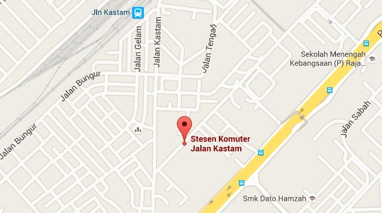 Location of Jalan Kastam KTM Station