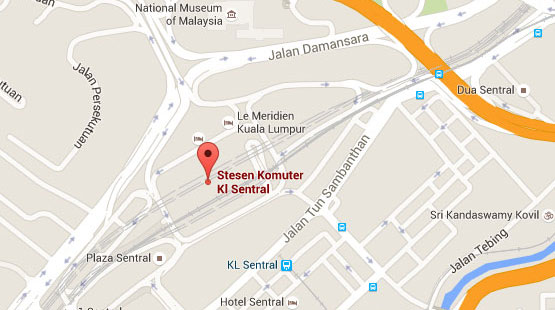 Location of KL Sentral KTM Station