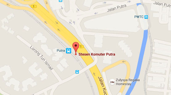 Location of Putra KTM Station