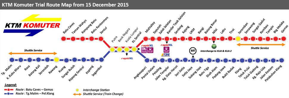 KTM Komuter Trial Route Map