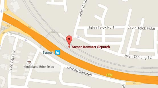 Location of Salak Selatan KTM Station
