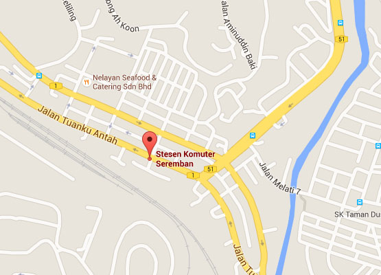 Location of Seremban KTM Station
