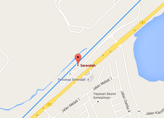 Location of Serendah KTM Station