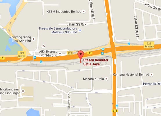 Location of Setia Jaya KTM Station