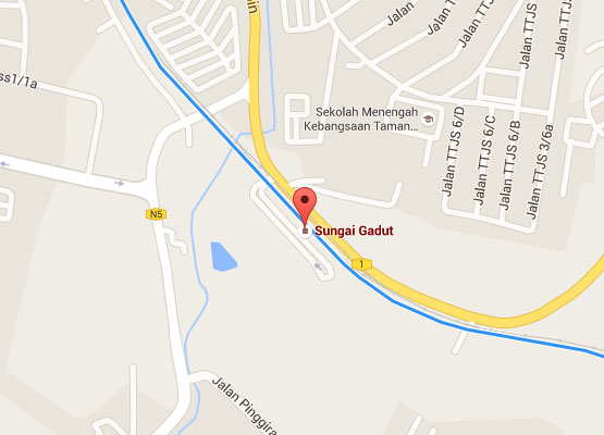 Location of Sungai Gadut KTM Station