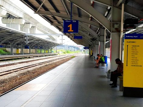 Passengers waiting at platform