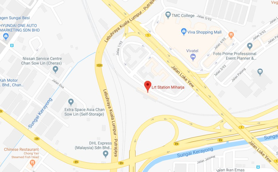 Location of Miharja LRT Station