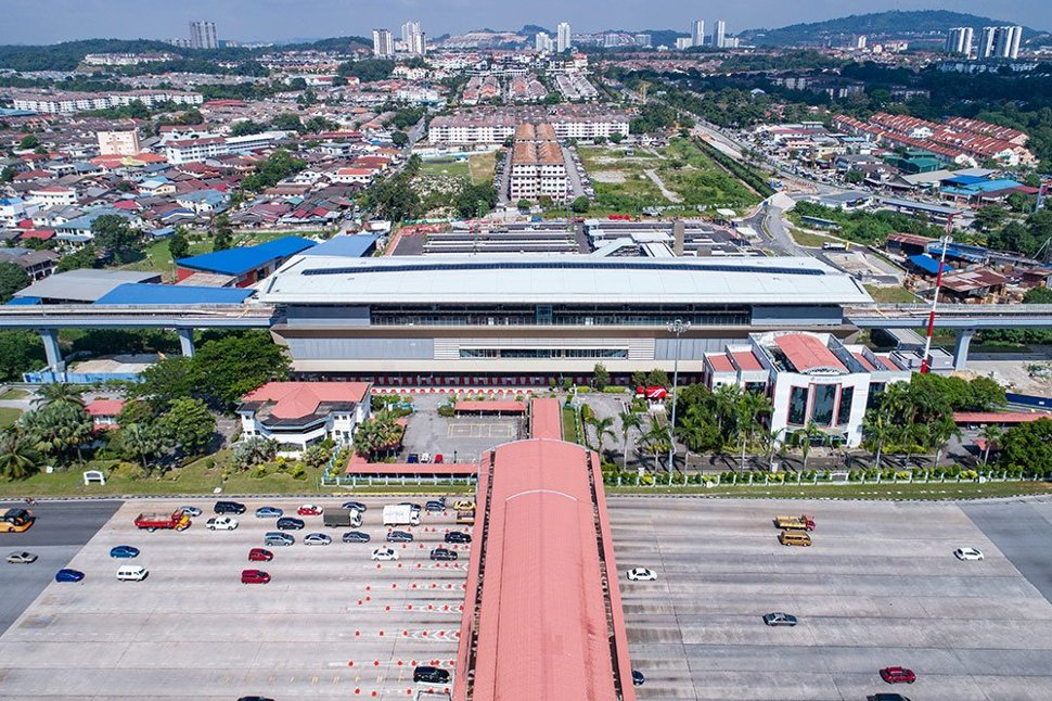 Aerial view of the Bandar Tun Hussein Onn MRT Station