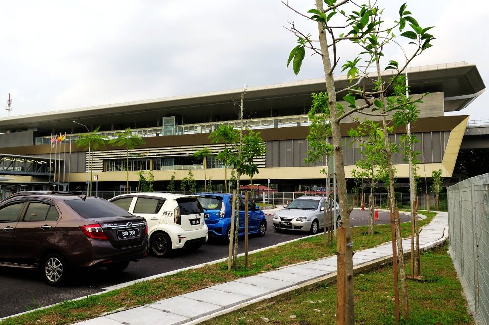 View of Bandar Tun Hussein Onn station from car park
