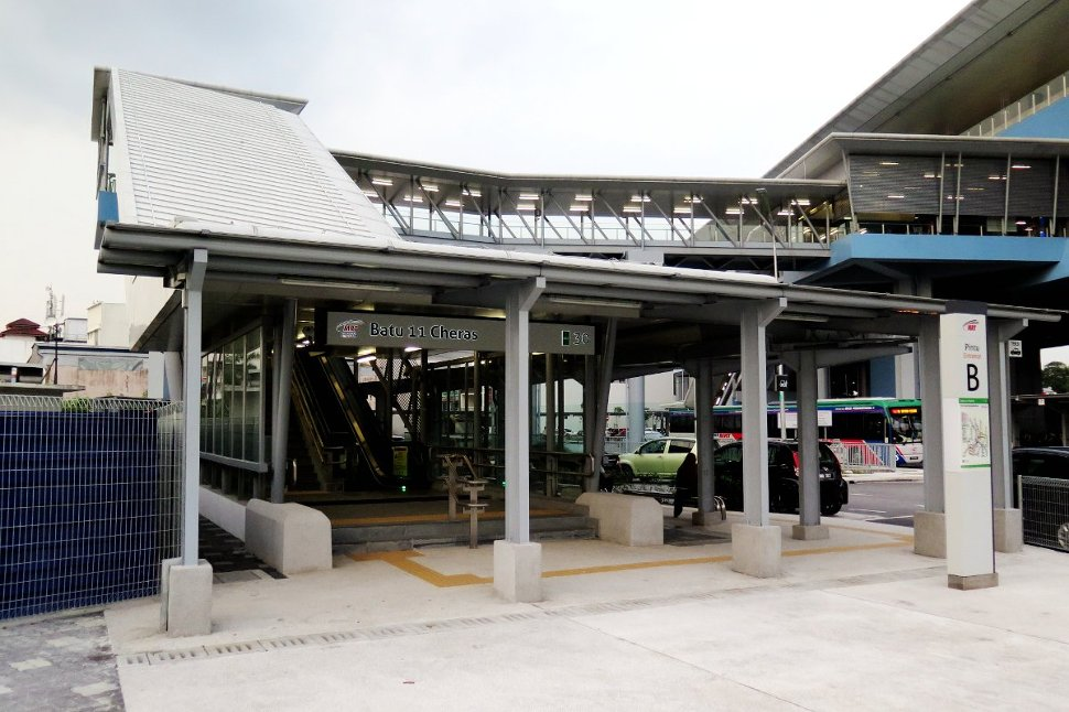 Entrance B of Batu 11 Cheras station
