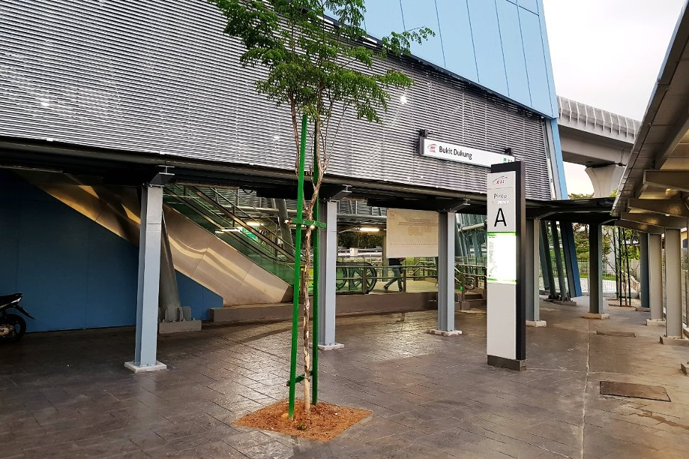 Entrance A of Bukit Dukung station