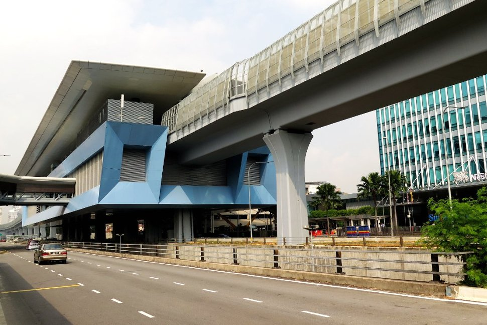 View of the station above Persiaran Surian
