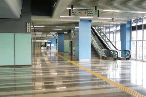Concourse level at Mutiara Damansara station