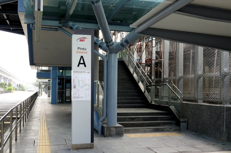 Entrance A at Mutiara Damansara station