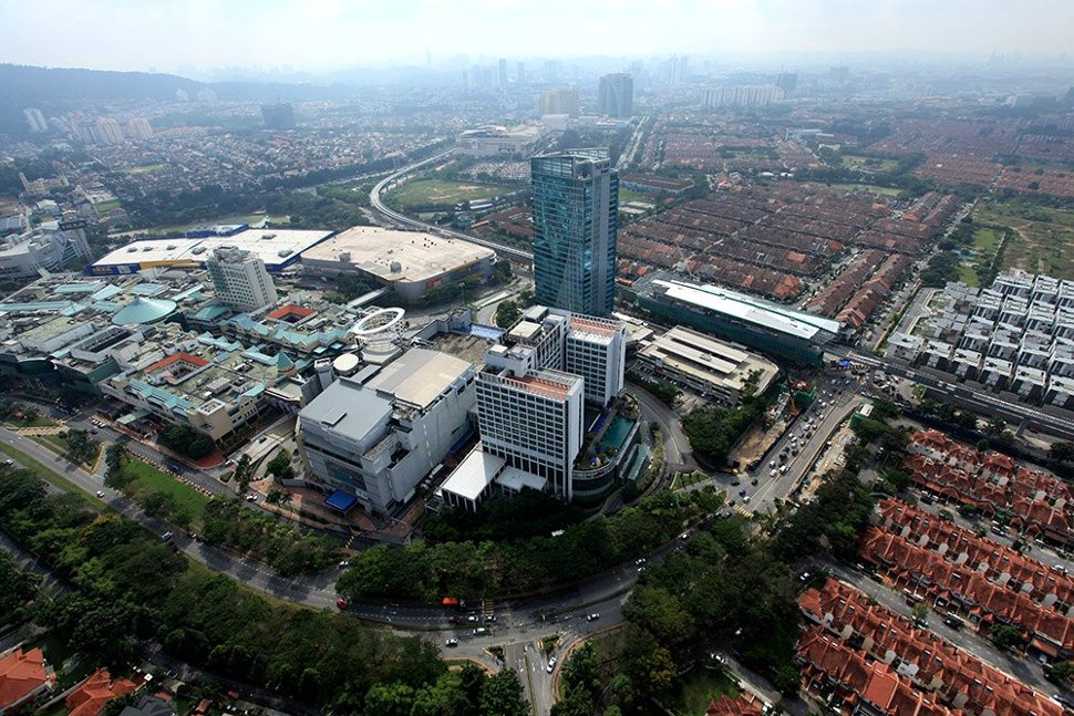 Aerial view of Mutiara Damansara station and its surrounding areas