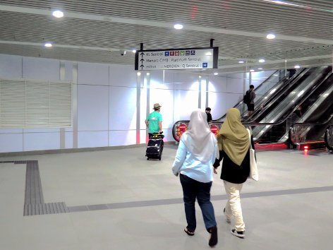 Commuters walking towards KL Sentral
