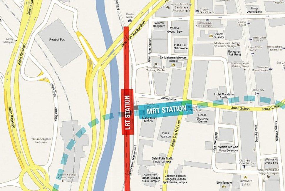 Pasar Seni MRT station MRT Sungai Buloh Kajang Line