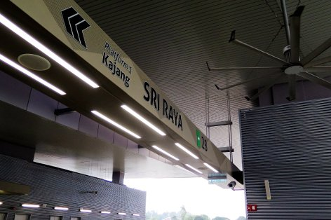 Boarding platform of Sri Raya station