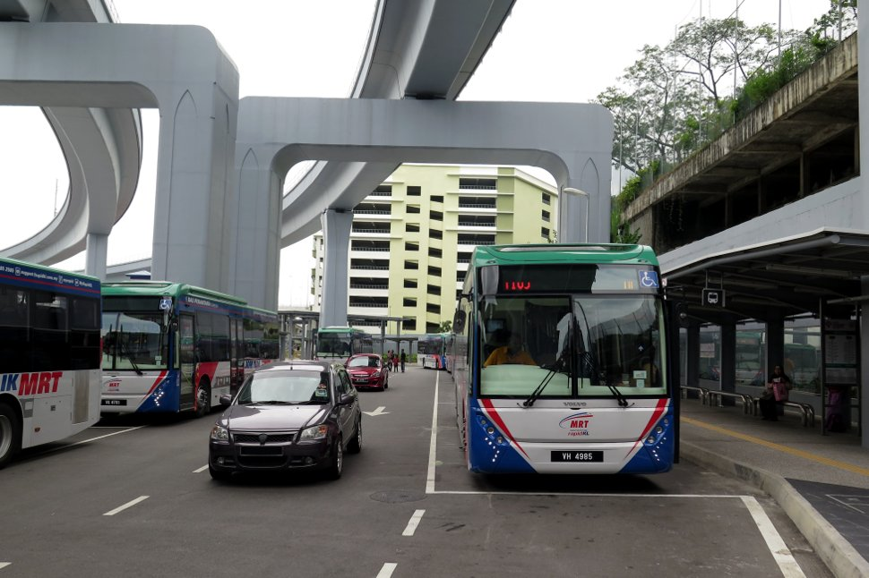 Station's feeder bus hub accessed via Entrance A of the station
