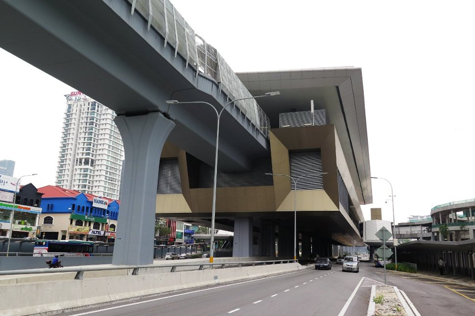 View of the Surian MRT station from roadside
