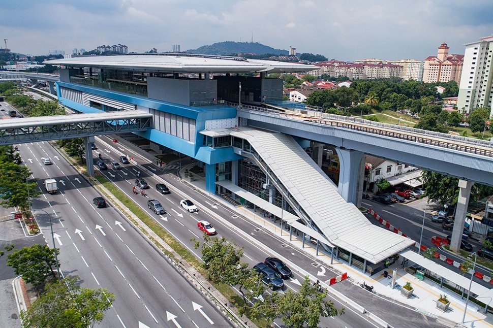 Aerial view of Taman Midah MRT station