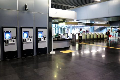 Ticket vending machines and customer service office