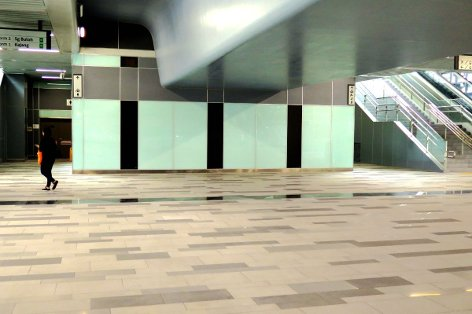 Toilets and surau facilities on concourse level