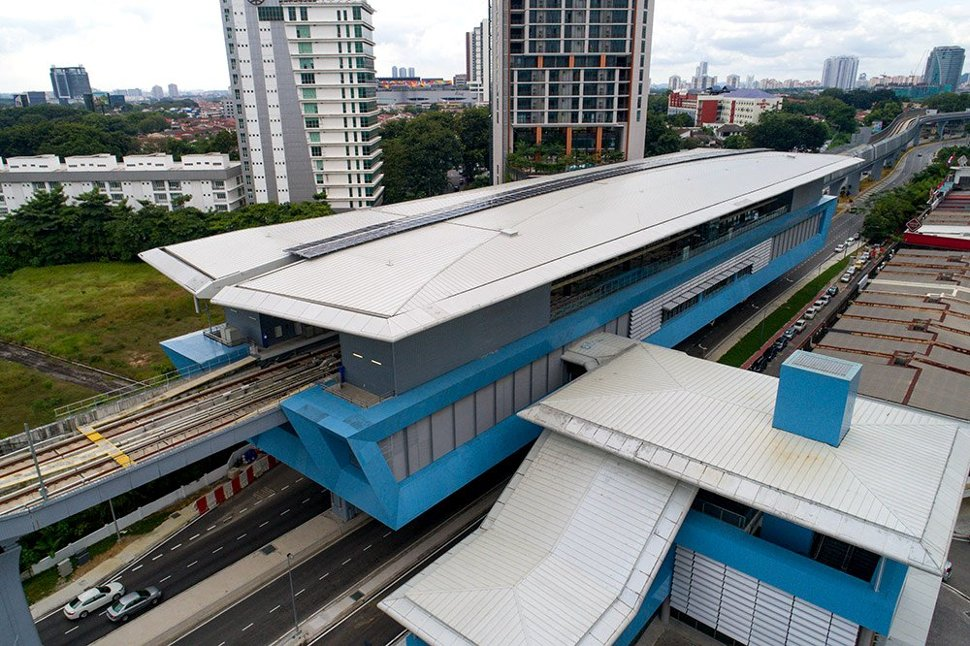 Aerial view of Taman Tun Dr Ismail MRT station