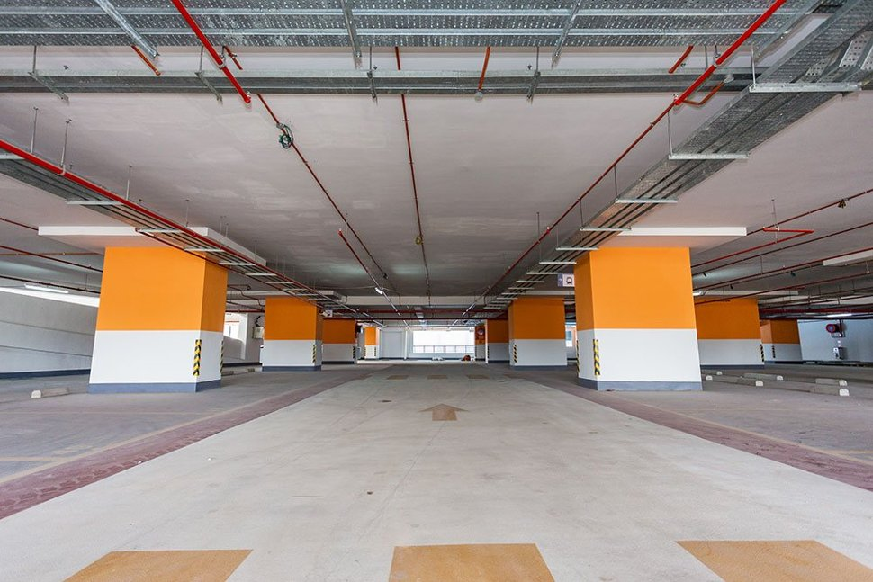 Inside the multi-storey park and ride parking building that has been built next to the Bukit Dukung Station. Apr 2017