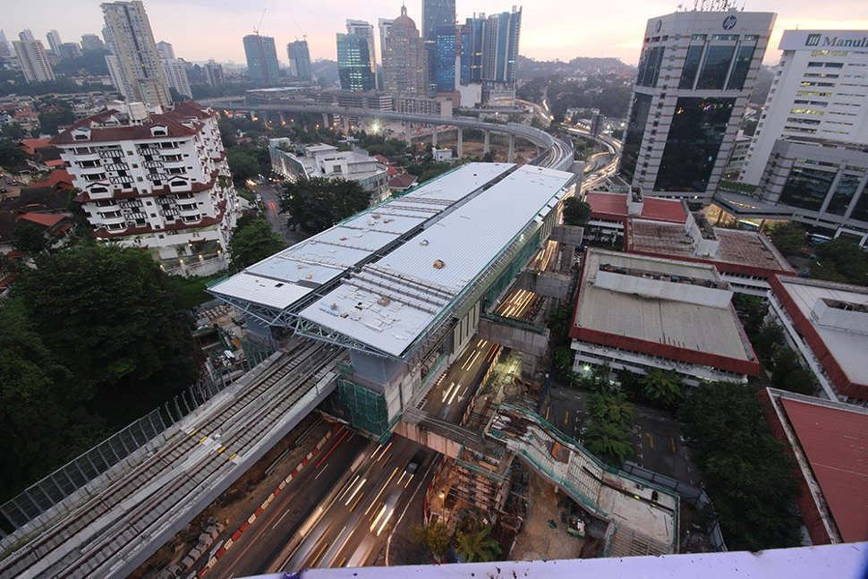 Aerial view of the Semantan Station. (Dec 2015)