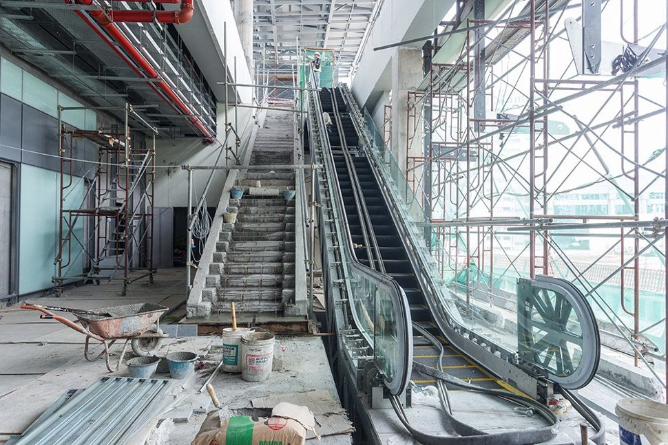 Staircases and escalators being built inside the Semantan Station. (Dec 2015)