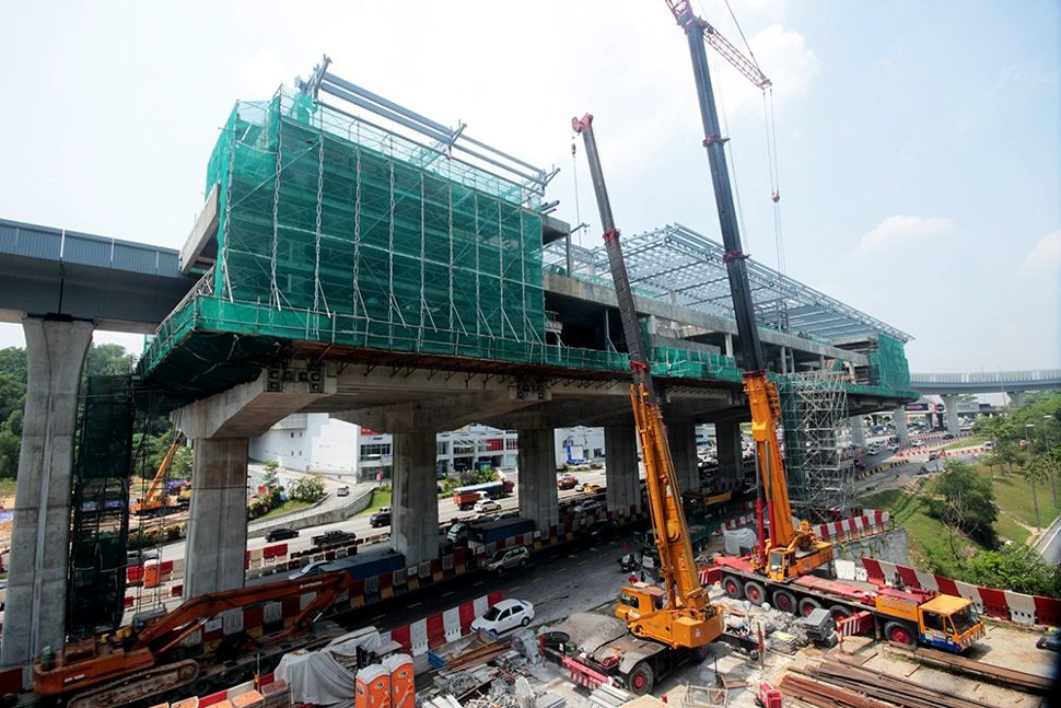 View of the Taman Connaught Station being built. Oct 2015