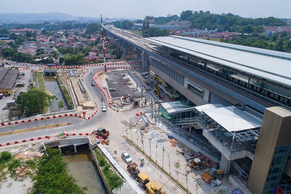 View of the Taman Suntex Station with ongoing work at Entrance A. Jan 2017