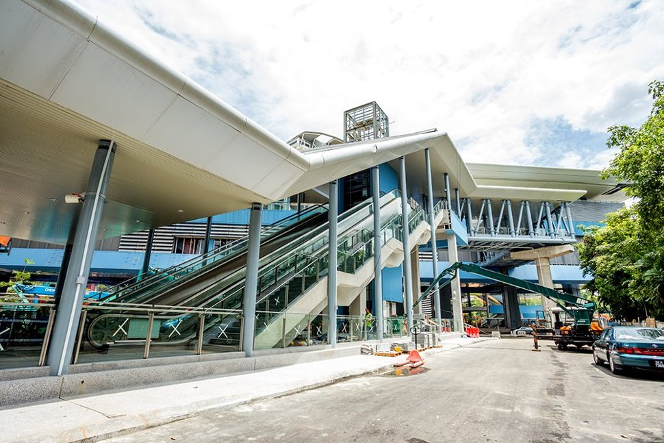 Entrance to the Taman Tun Dr Ismail Station almost ready. (Oct 2016)