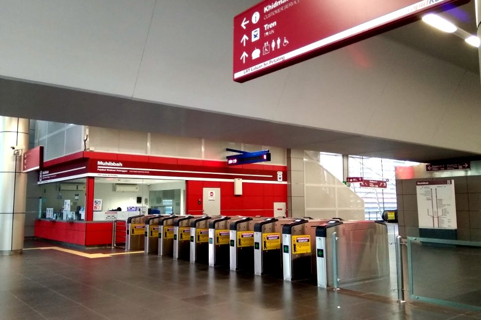 Faregates and customer service office available at concourse