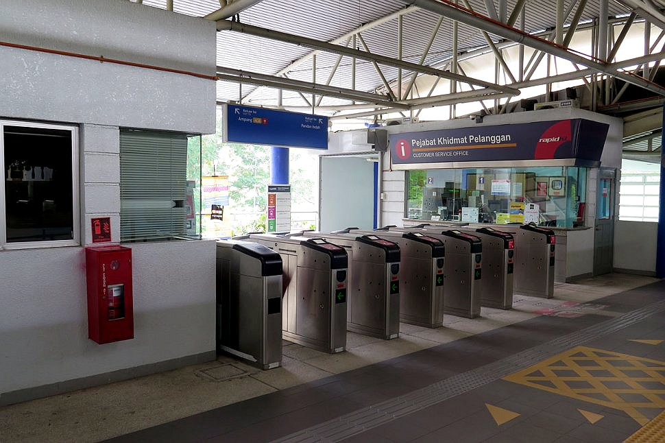 Faregates at Pandan Indah LRT Station
