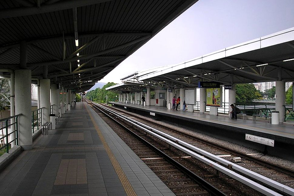 Boarding platform at Pandan Jaya LRT Station