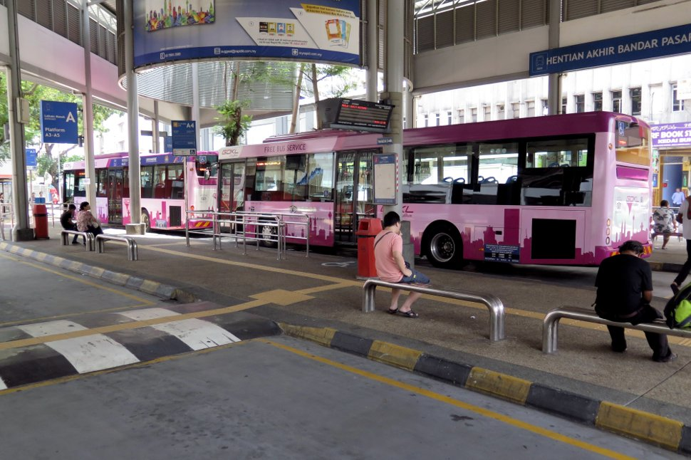 Bus stop for Go KL city bus