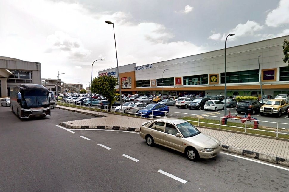 Tesco Puchong next to the LRT station