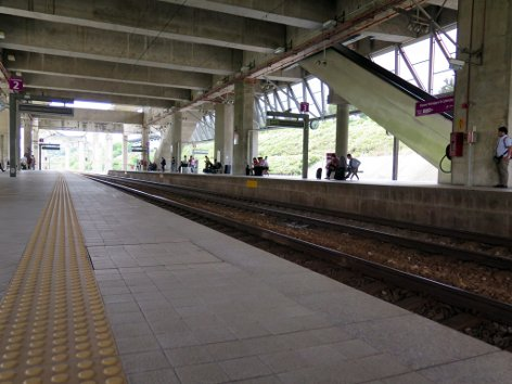 Boarding platforms at ERL station
