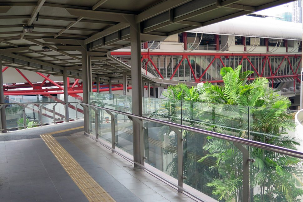 View of PWTC LRT station from the pedestrian bridge