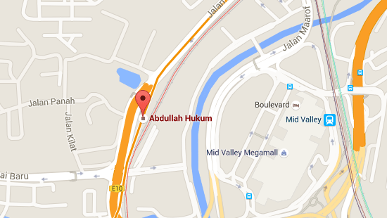 Location of Abdullah Hukum LRT Station