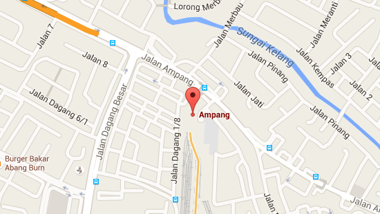 Location of Ampang LRT Station