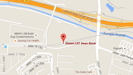 Location of Awan Besar LRT Station