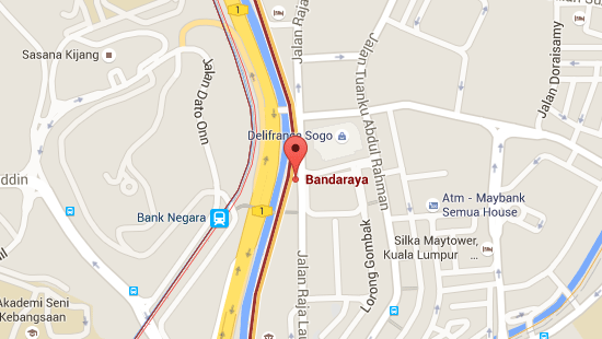 Location of Bandaraya LRT Station