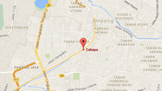 Location of Cahaya LRT Station