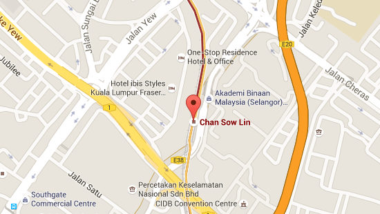 Location of Chan Sow Lin LRT Station
