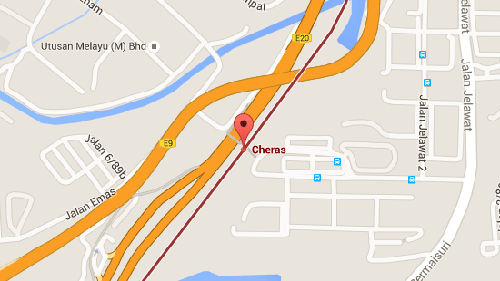 Location of Cheras LRT Station