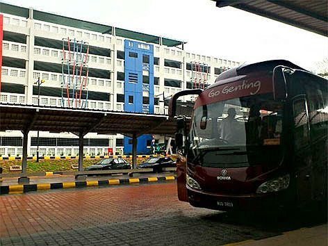 Go Genting bus waiting at station