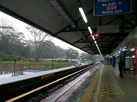 Boarding platform at Station